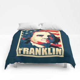 Benjamin Franklin America Pop Art Comforters