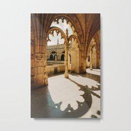 sunlight hitting the Jerónimos monastery in Lisbon, Portugal   Photo Print, Travel Photography Metal Print