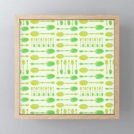 Unique Artsy Spoons! (Light Green) Framed Mini Art Print