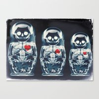 doll Canvas Prints featuring Nesting Doll X-Ray by Ali GULEC