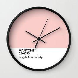MANTONE® Fragile Masculinity Wall Clock