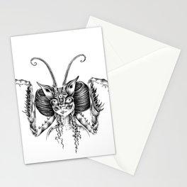 mantis girl Stationery Cards