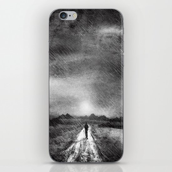 it's raining again (b&w) iPhone & iPod Skin