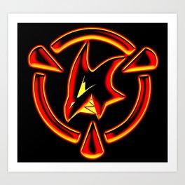 Red: Logo Art Print