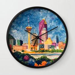 San Antonio Celebration Wall Clock