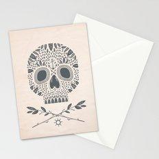 LEAF SKULL Stationery Cards