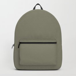 Pigeon Gray Green Solid Color Pairs Farrow and Ball 2021 Color of the Year Treron 292 Backpack