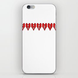 Goodbye Hearts iPhone Skin