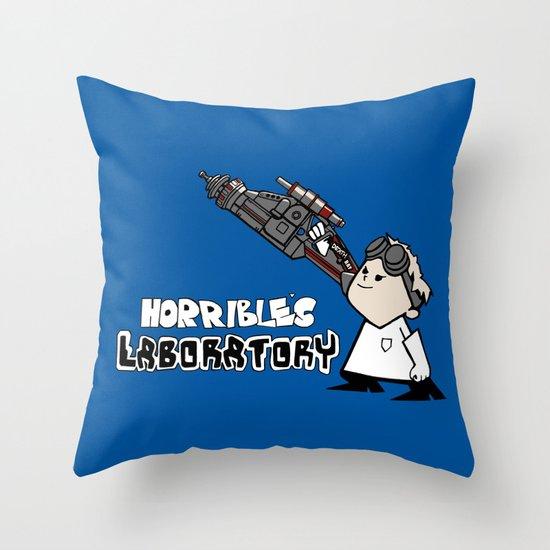 Horrible's Laboratory Throw Pillow