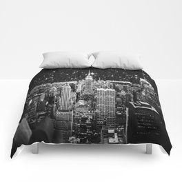Starry Night in New York Comforters