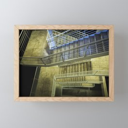 Exterior Stairway at the Getty Framed Mini Art Print