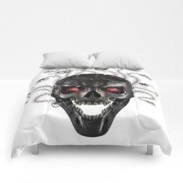 Metal skull of medusa Comforters