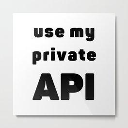 Use my private API - Nerd joke Metal Print