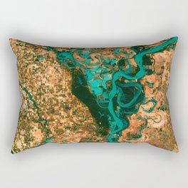 Meandering Mississippi Rectangular Pillow