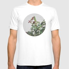 Rose Hips Mens Fitted Tee MEDIUM White