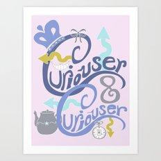 Curiouser & Curiouser (Pink) Art Print