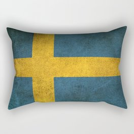 Old and Worn Distressed Vintage Flag of Sweden Rectangular Pillow