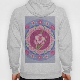 Pretty Pink Flowers Mandala Hoody