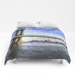 Manhattan Bridge New York Comforters