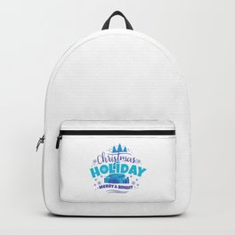 Christmas Holiday Merry & Bright pb Backpack
