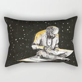 Allen Ginsberg in the sky Rectangular Pillow