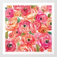 Bed of Roses Art Print