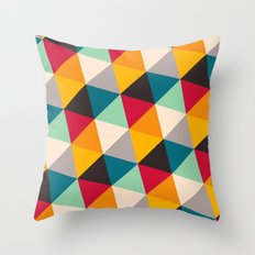 Triangles #2 Throw Pillow
