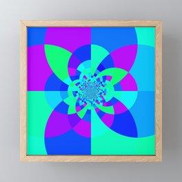 Orchid Aqua Turquoise Kaleidoscope Framed Mini Art Print
