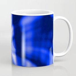 Crossing waves of light from smooth blue lines on the fibers of the veil with dark sparkling transit Coffee Mug