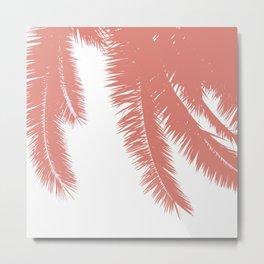 Palm Leaves - Terracotta Metal Print