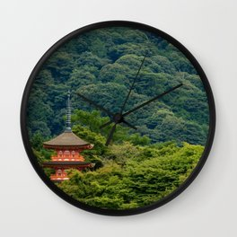 Japanese forest temple Wall Clock
