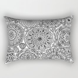 The Yang, Light Mandalas Rectangular Pillow