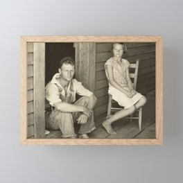 Floyd and Lucille Burroughs by Walker Evans Framed Mini Art Print