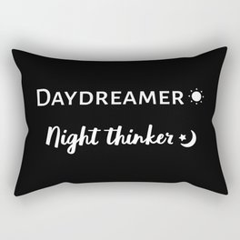The Daydreamer and Night Thinker Rectangular Pillow