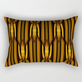 Brown And Rust Textile Pattern Rectangular Pillow