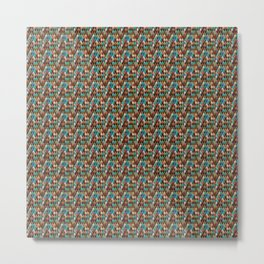 Brownish nude spectrum of colors in a pattern Metal Print