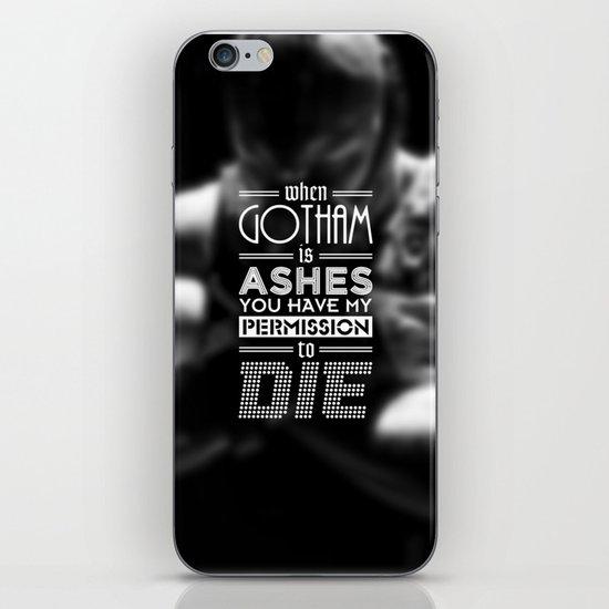 """DARK KNIGHT RISES"" - BANE - Typography Poster iPhone & iPod Skin"