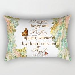 Butterflies Feathers and Angels Rectangular Pillow