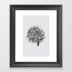 Black Tree Framed Art Print