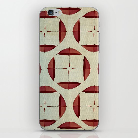 circle the umbrellas iPhone & iPod Skin