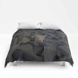 Abstract Concrete III Comforters