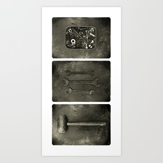 Dad used to make things (triptych one) Art Print
