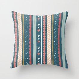Happy Birthday Tweet Heart Whimsical Pattern Throw Pillow
