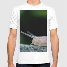 Snail White Mens Fitted Tee MEDIUM