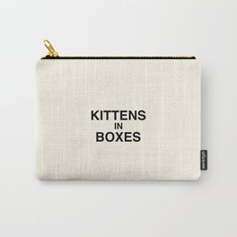 Kittens in Boxes - Cream Carry-All Pouch