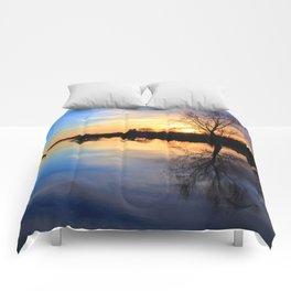 Floodplain at Sunset 1 Comforters