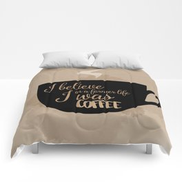 Gilmore Girls Inspired - I believe in a former life I was coffee Comforters