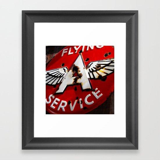 Flying A Service Framed Art Print