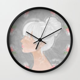Her Silhouette Wall Clock