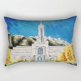 Mount Timpanogos Utah LDS Temple Autumn Rectangular Pillow